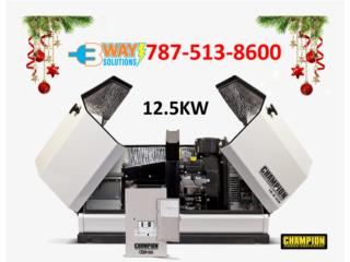 GENERADOR 12.5KW CHAMPION, 3 WAY SOLUTIONS Puerto Rico