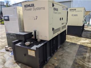 GENERADOR KOHLER 50KW/TANQUE DW 350GAL, G.T. Power Division  Puerto Rico