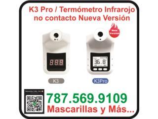 Termómetro infrarojo no contacto nueva versio, Mascarillas y Más... Puerto Rico