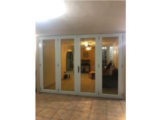 Puertas Multiples Heavy Full Glass 96 x 96, #1 SANTIAGO WINDOW & DOORS Puerto Rico