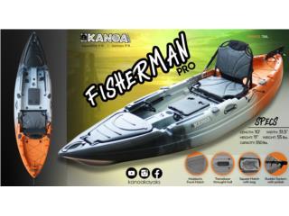 KANOA Fisherman Pro-Con timón/silla aluminio, KANOA kayaks Puerto Rico
