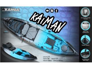 KANOA Kaiman kayak 11' con timon/silla incl, KANOA kayaks Puerto Rico