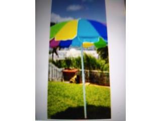 Sombrillas de Playa nuevas $45 mide 5 pies, Ventas Puerto Rico