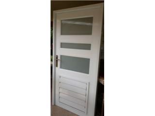 Puertas con Ventanas Integradas 32x86, #1 SANTIAGO WINDOW & DOORS Puerto Rico