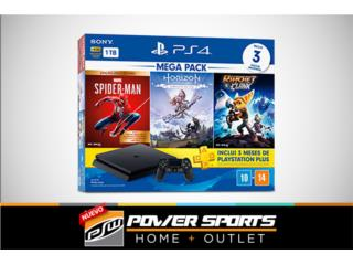 ¡Playstation 4 with 3 video games included!, Power Sports Home + Outlet Puerto Rico