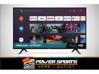 TV HISENSE 40' HD 720 LED ANDROID, Power Sports Home + Outlet Puerto Rico
