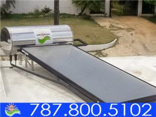 CALELANTADOR SOLAR INVERSIÓN PARA TU HOGAR, UNIVERSAL SOLAR - PUERTO RICO        787-800-5102 Puerto Rico