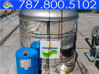 TANQUE EN STAINLESS STEEL UNIVERSAL 450 GLS, UNIVERSAL SOLAR - PUERTO RICO        787-800-5102 Puerto Rico
