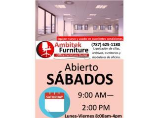 ***ESTAMOS ABIERTOS LOS SABADOS****, AMBITEK FURNITURE Puerto Rico