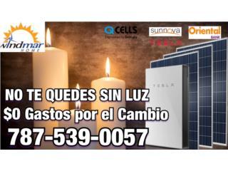 NO TE QUEDES SIN LUZ-$0 GASTOS POR EL CAMBIO, Windmar Home Cambiate a Solar Puerto Rico