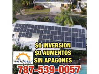 $0 AUMENTOS $0 INVERSION SIN APAGONES, Windmar Home Cambiate a Solar Puerto Rico