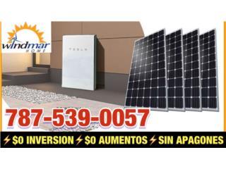 PLACAS SOLARES CON BATERIA TESLA $0 INVERSION, Windmar Home Cambiate a Solar Puerto Rico