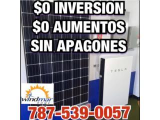 Sistema de Placas Con Baterías TESLA $0 Pto, Windmar Home Cambiate a Solar Puerto Rico