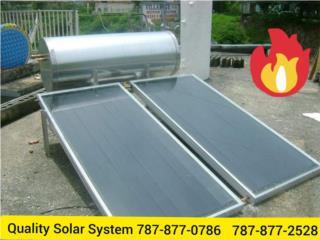 CAL.SOLAR MIRA COMO CALIENTA ESTO ES CALIDAD, Quality Solar System 787-517-0663 Puerto Rico