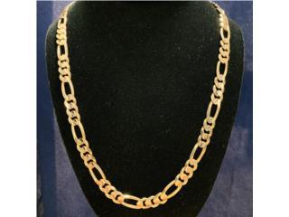 Cadena Figaro en Oro 14kt y 22