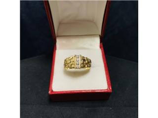 Anillo de Caballero en Oro 14kt con Diamantes, CashEx Puerto Rico