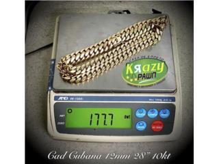 "Cadena Cubana Solida 12mm 28"" 10kt $6,930, Krazy Pawn Corp Puerto Rico"