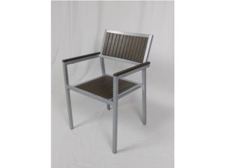 Nuevo! Silla Polyteak Frame Aluminio, PR SEATING Puerto Rico