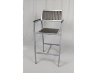 Nuevo Barstool Polyteak Frame de Aluminio, PR SEATING Puerto Rico
