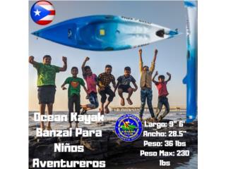 O.K Banzai Para Niños Asiento,Leach y Handles, AquaSportsKayaks Distributors PR 1991 7877826735 Puerto Rico