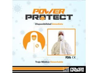 POWER PROTECT! TRAJE MÉDICO DESECHABLE, POWER PROTECT Puerto Rico