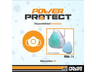 POWER PROTECT! MASCARILLAS S9 PARA COVID-19, POWER PROTECT Puerto Rico