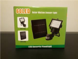 Lámpara solar de seguridad con sensor de mov, IslaSolarPR Puerto Rico
