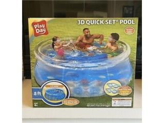 Piscina 8x30 Play Day 3D Nuevas en Caja, BJ Distributor Supply Puerto Rico