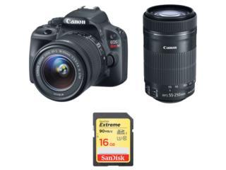 Canon EOS Rebel SL1 2 Lens Kit, Cashex Puerto Rico