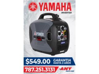 Planta electrica Yamaha, ANY PARTS / Plantas Electricas Puerto Rico
