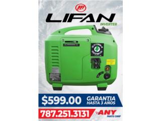 Plantas electricas Lifan inverter, ANY PARTS / Plantas Electricas Puerto Rico