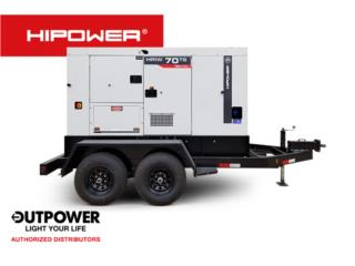 HIPOWER 70KW - RENTAL, OUT POWER ENERGY  Puerto Rico