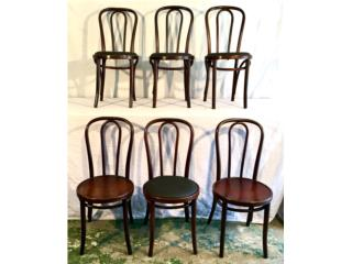 6  Restored Bentwood Chairs; 1950's-60's, Mr. Bond Vintage Puerto Rico