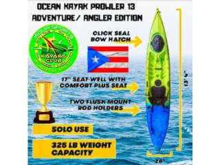 O.K PROWLER13 EL MEJOR KAYAK DE AVENTURAS P.R, AquaSportsKayaks Distributors PR 1991 7877826735 Puerto Rico