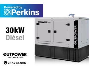 30kW Perkins® Stamford® ¡Entrega Inmediata!, OUT POWER ENERGY Puerto Rico