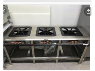 Estufa de tres hornillas de 16, @ Muñoz Bakery Equipment, Inc. Puerto Rico