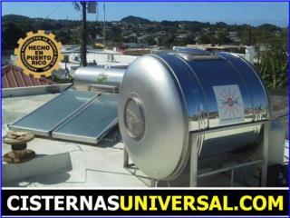 Calentador UNIVERSAL® y CISTERNA | $900 Bono, UNIVERSAL SOLAR PRODUCTS, INC. Desde 1965 en PR. Puerto Rico
