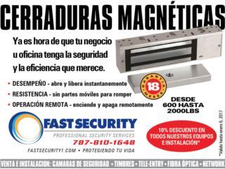 Cerradura Magnética con Timer 600 lbs , FAST SECURITY  Puerto Rico