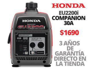 HONDA EU2200I COMPANION 30A INVERTER GARANTIA, HUMACAO POWER SOLUTIONS LLC Puerto Rico