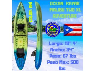 MalibuTwoXL 2adultos 1 Niño 1ra Calidad, AquaSportsKayaks Distributors PR 1991 7877826735 Puerto Rico