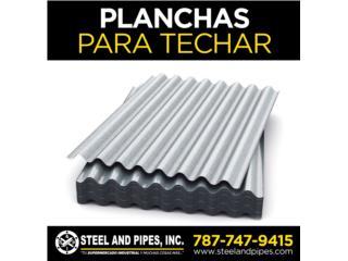 Planchas para Techar (Zinc, Metal Deck), Steel and Pipes Puerto Rico