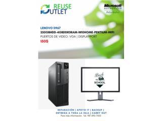 Computadora Lenovo 0967 - 250GB, Reuse Outlet Store Puerto Rico