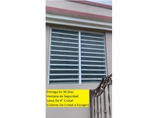 Ventana De Seguridad Lama De 4, #1 SANTIAGO WINDOW & DOORS Puerto Rico