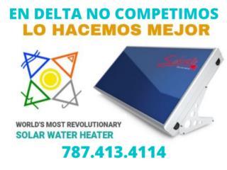 CALENTADOR DE AGUA SOLAR, DELTA SOLAR CORP. 787.413.4114 Puerto Rico