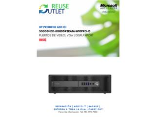 Computadora HP PRODESK 600 G!, Reuse Outlet Store Puerto Rico