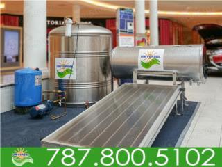 COMBO TANQUE DE AGUA Y CALENTADOR UNIVERSAL, UNIVERSAL SOLAR - METRO/ISLA         787-800-5102 Puerto Rico