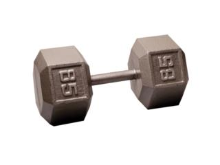 Pair of 85 Lb. Cast Iron Hex Dumbbell, Healthy Body Corp. Puerto Rico