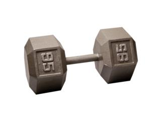 Pair of 95 Lb. Cast Iron Hex Dumbbell, Healthy Body Corp. Puerto Rico
