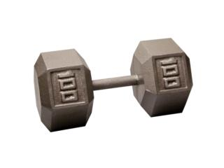 Pair of 100 Lb. Cast Iron Hex Dumbbell, Healthy Body Corp. Puerto Rico