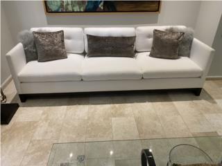 Sofa en tela blanco. Elegante y contemporáneo, J Cangiano Puerto Rico